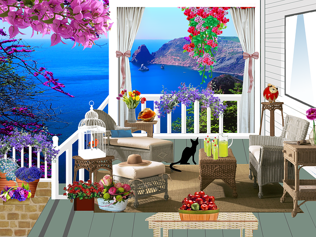 krásný balkon